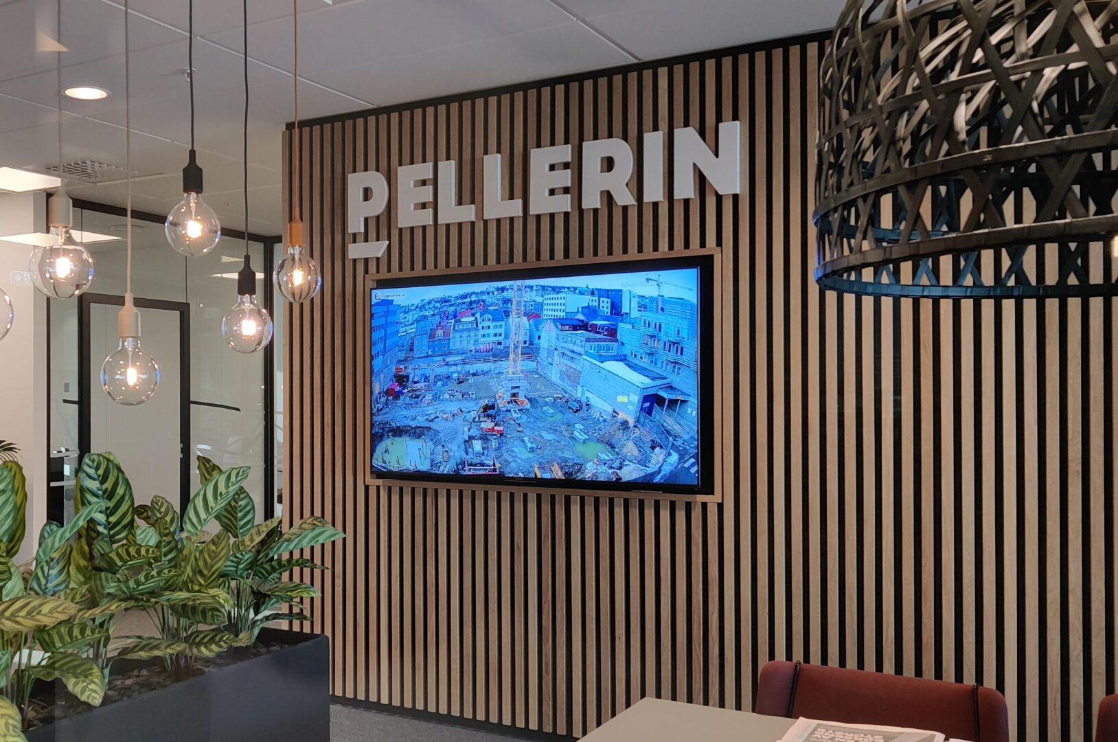 infoskjerm sosial sone Pellerin skjerm Intuy informasjonsskjerm