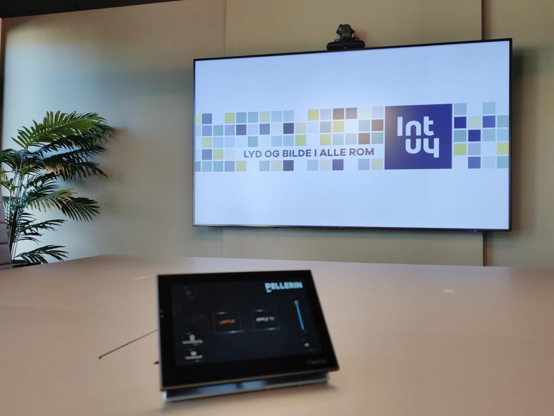 Møterom styringssystem styringspanel møterom Intuy Pellerin lyd bilde AV-utstyr AV
